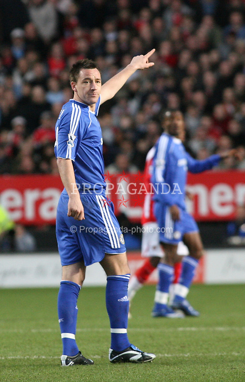 London, England - Tuesday, January 23, 2007: Chelsea's John Terry against Charlton Athletic during the Premiership match at the Valley. (Pic by Chris Ratcliffe/Propaganda)