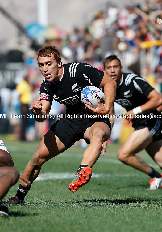 14 February 2015:  Joe Webber (10) of New Zealand during the USA Sevens Rugby Tournament between New Zealand and Fiji of the HSBC Sevens World Series, in Las Vegas, Nevada.  Fiji would defeat New Zealand 14-12.