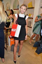 GEORGIA TOFFOLO at a Hello! magazine and Folli Follie shopping evening at Folli Follie, 493 Oxford Street, London on 25th August 2016.