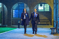 © Licensed to London News Pictures . 05/06/2014 . Newark , Nottinghamshire , UK . Conservative candidate Robert Jenrick (R) arrives with his wife Michal Jenrick . The count for the Newark by-election at Kelham Hall , Newark , this evening (Thursday 5th June 2014) . Photo credit : Joel Goodman/LNP