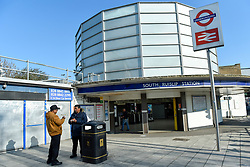 © Licensed to London News Pictures. 27/02/2019. LONDON, UK.  A general view of South Ruislip station in north west London.  A schoolboy was reportedly stabbed in front of the station at 4.30pm on 26 February but his injuries are not thought to be life threatening.  This was one of four stabbings across different parts of the on the same day.  The station was closed temporarily whilst British Transport Police conducted investigations and witnesses are being sought.  Photo credit: Stephen Chung/LNP