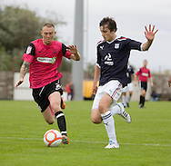 Graham Webster and Southend's Sean Clohessy - Dundee v Southend United - East Fife Tournament at New Bayview<br /> <br /> &copy; David Young<br /> <br /> <br /> http://www.davidyoungphoto.co.uk
