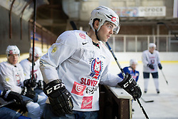 Matevz Erman at first practice of Slovenian National Ice Hockey team before EIHC tournament in Innsbruck, on November 4, 2013 in Ledena dvorana Bled, Bled, Slovenia. (Photo by Matic Klansek Velej / Sportida.com)