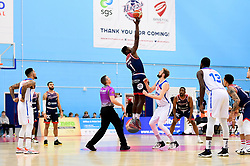 Daniel Edozie of Bristol Flyers wins the tip off - Photo mandatory by-line: Ryan Hiscott/JMP - 17/01/2020 - BASKETBALL - SGS Wise Arena - Bristol, England - Bristol Flyers v London City Royals - British Basketball League Championship