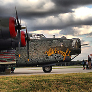Gary Cosby Jr.  iPhone photographs<br /> A B24 Liberator on display at Pryor Field in Decatur, Alabama.