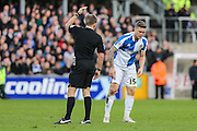 Bristol Rovers James Clarke needs treatment to a cut to the head during the Sky Bet League 2 match between Bristol Rovers and Plymouth Argyle at the Memorial Stadium, Bristol, England on 23 January 2016. Photo by Shane Healey.