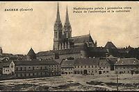 Zagreb : Nadbiskupska palača i prvostolna crkva = Palais de l'archievêque et la cathédrale. <br /> <br /> ImpresumTrieste : S. M. D., Modiano Trieste, [1908].<br /> Materijalni opis1 razglednica : tisak ; 8,8 x 13,8 cm.<br /> NakladnikS. D. Modiano Trieste<br /> Mjesto izdavanjaTrst<br /> Vrstavizualna građa<br /> ZbirkaGrafička zbirka NSK • Zbirka razglednica<br /> Formatimage/jpeg<br /> PredmetZagreb –– Kaptol<br /> Katedrala Uznesenja Marijina (Zagreb)<br /> SignaturaRZG-KAP-35<br /> Obuhvat(vremenski)20. stoljeće<br /> NapomenaRazglednica je putovala 1908. godine. • U donjem lijevom rubu poleđine razglednice otisnuta je abrevijacija S. M. D., Modiano Trieste (S. D. Modiano Trieste).<br /> PravaJavno dobro<br /> Identifikatori000955362<br /> NBN.HRNBN: urn:nbn:hr:238:273810 <br /> <br /> Izvor: Digitalne zbirke Nacionalne i sveučilišne knjižnice u Zagrebu