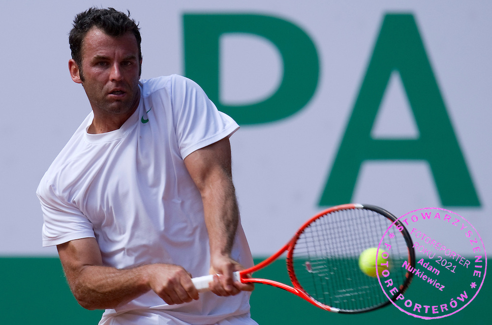 MARC GICQUEL (FRANCE)  DURING DAY 5 OF THE MEN'S SINGLES TOURNAMENT BNP PARIBAS POLISH OPEN AT TENNIS CLUB IN SOPOT, POLAND...POLAND, SOPOT , JULY 15, 2011..( PHOTO BY ADAM NURKIEWICZ / MEDIASPORT )..PICTURE ALSO AVAIBLE IN RAW OR TIFF FORMAT ON SPECIAL REQUEST.
