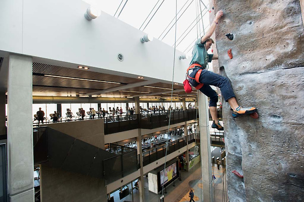 Annual Show you Care-abiner Climbing Competition at the CRWC, with prizes awarded to top finishers and costume categories.