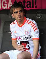 FUSSBALL   1. BUNDESLIGA  SAISON 2011/2012   33. Spieltag FC Bayern Muenchen - VfB Stuttgart       28.04.2012 Philipp Lahm (FC Bayern Muenchen)