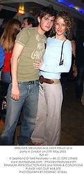 MISS KATE MELHUISH and JACK FREUD at a party in London on 27th May 2003.<br /> PJY 47