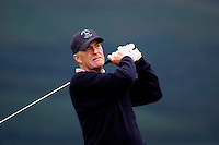 Nick Job, professional golfer,  England, playing a tee shot. Ref: 200207240197. Photograph taken during practice prior to British Seniors Golf Championship at Royal County Down, N Ireland, UK...Copyright Image from Victor Patterson, 54 Dorchester Park, Belfast, UK, BT9 6RJ..Tel: +44 28 9066 1296.Mob: +44 7802 353836.Voicemail +44 20 8816 7153.Skype: victorpattersonbelfast.Email: victorpatterson@mac.com.Email: victorpatterson@ireland.com (back-up)..IMPORTANT: If you wish to use this image or any other of my images please go to www.victorpatterson.com and click on the Terms & Conditions. Then contact me by email or phone with the reference number(s) of the image(s) concerned.