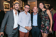 Frank Relle, Gary Michael Smith, Brian Boyles, and Romy Mariano at Louisiana Endowment for the Humanities publication party at Frank Relle Photography Gallery in the French Quarter on September 8, 2016
