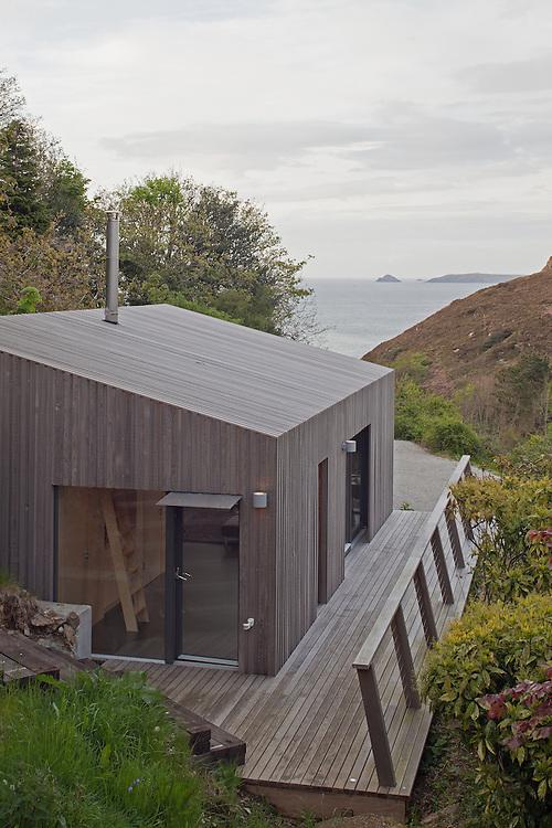 seaside, holiday house, bach, cornwall, uk, residential, england, uk, ecospace, garden studio, wood, wooden,