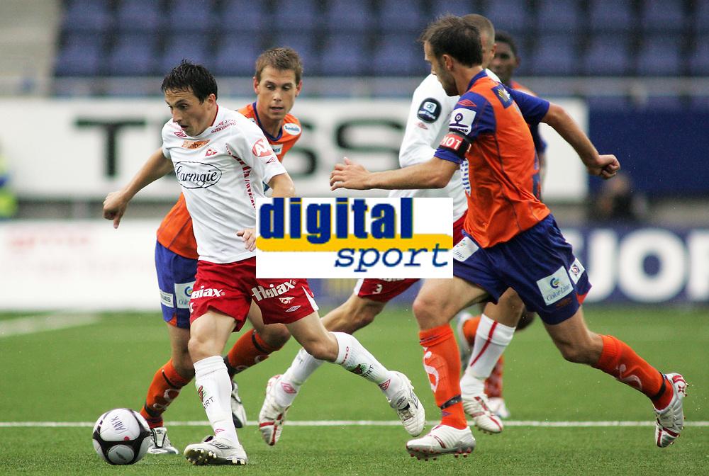 Fotball<br /> 30. August 2008<br /> Tippeligaen<br /> Aalesund - Fredrikstad 0-0<br /> <br /> Ardian gashi - fredrikstad<br /> Daniel arnefjord - aalesund<br /> Patrik gerrbrand - fredrikstad<br /> Trond fredriksen - aalesund<br /> <br /> Foto: Richard Brevik , Digitalsport