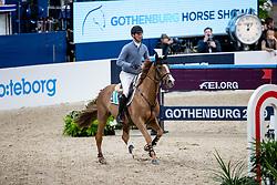 DEUSSER Daniel (GER), Scuderia 1918 Tobago Z<br /> Göteborg - Gothenburg Horse Show 2019 <br /> Longines FEI Jumping World Cup™ Final<br /> Training Session<br /> Warm Up Springen / Showjumping<br /> Longines FEI Jumping World Cup™ Final and FEI Dressage World Cup™ Final<br /> 03. April 2019<br /> © www.sportfotos-lafrentz.de/Stefan Lafrentz