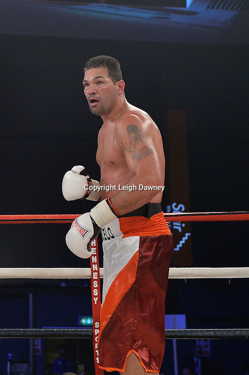 Eddie Chambers defeats Marcelo Luiz Nascimento (pictured) in a heavyweight boxing contest at Glow, Bluewater, Kent on the 8th November 2014. Promoter: Hennessy Sports. © Leigh Dawney Photography 2014.