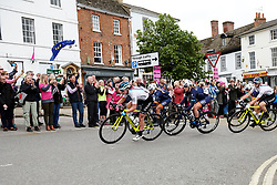 The peloton speed through Farringdon at Stage 3 of 2019 OVO Women's Tour, a 145.1 km road race from Henley-on-Thames to Blenheim Palace, United Kingdom on June 12, 2019. Photo by Sean Robinson/velofocus.com