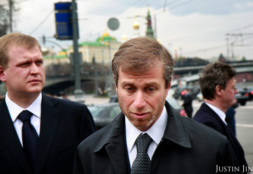 Russian billionaire Roman Abramovich leaves the Cathedral Christ Our Savior after attending the funeral of former Russian President Boris Yeltsin in Moscow, two days after his death from a heart failure. Yeltsin was 76. .Abramovich became rich thanks to Yeltsin's hasty privatisation drive in the 1990s, concentrating Russia's wealth in the hands of a few oligarchs.