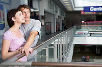 Young couple in shopping centre Voronezh