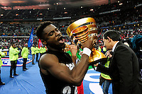 Victoire du PSG / Serge AURIER   - 11.04.2015 -  Bastia / PSG - Finale de la Coupe de la Ligue 2015<br />