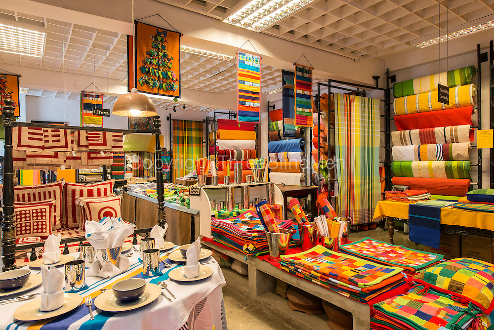 BAREFOOT store. <br /> Interior of the main store in Colombo.<br /> 704 Galle Road, Colombo 3. Sri Lanka.
