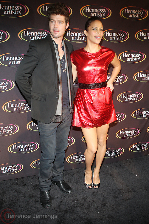 l to r: Paula Patton and Robin Thicke at The Hennessey Artistry Concert Series held at Terminal 5 on  October 7, 2009 in New York City