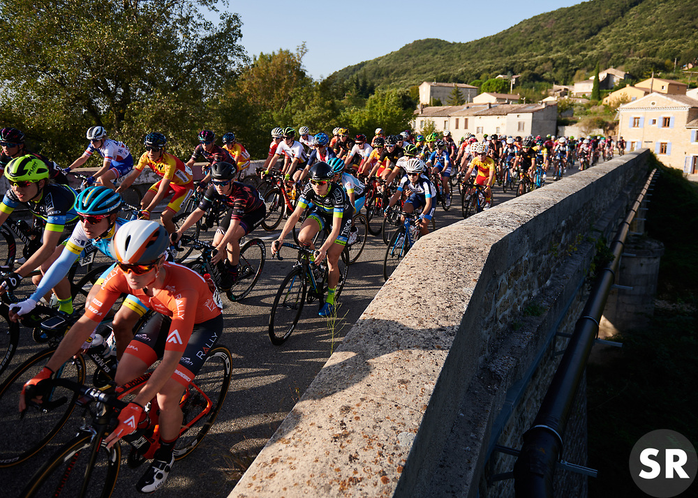 Tiffany Cromwell (AUS) and Brodie Chapman (AUS) in the bunch at Tour Cycliste Féminin International de l'Ardèche 2018 - Stage 1, a 65.6km road race from Saint Marcel d'Ardèche to Beauchastel, France on September 13, 2018. Photo by Sean Robinson/velofocus.com