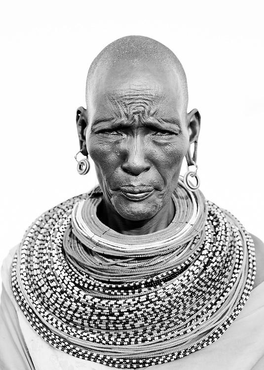A Samburu woman in northern Kenya