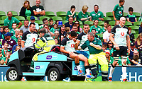 Rugby Union - 2019 pre-Rugby World Cup warm-up - Ireland vs. Italy<br /> <br /> Joey Carbery (Ireland) shows disappointment as he leaves the pitch injured at The Aviva Stadium.<br /> <br /> COLORSPORT/KEN SUTTON