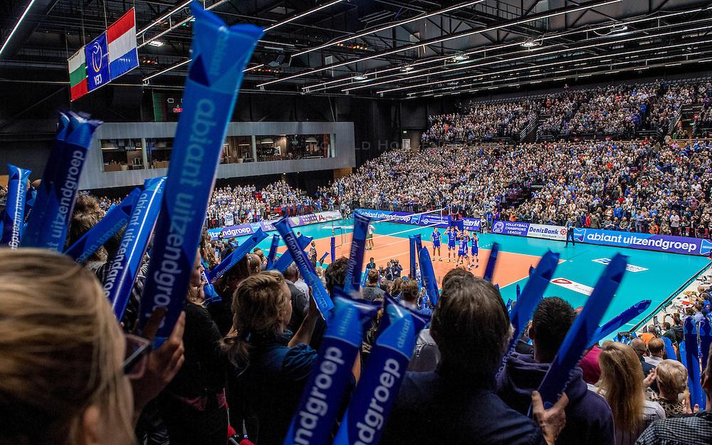 02-11-2016 NED: CEV CL Abiant Lycurgus - Dobruja 07 Dobrich, Groningen<br /> In een volgepakt MartinaPlaza speelt Lycurgus de eerste wedstrijd in de Champions League. Lycurgus wint de eerste wedstrijd met 3-0 /