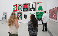 The art works are seen at The Broad on September 18, 2015 in downtown Los Angeles.  The Broad, the contemporary art museum built to house the 2,000-piece collection acquired over decades by billionaire philanthropist Eli Broad and his wife, Edye.  (Photo by Ringo Chiu/PHOTOFORMULA.com)