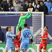 NEW YORK, NEW YORK - November 06: Clint Irwin #1 of Toronto FC in action during the NYCFC Vs Toronto FC MLS playoff game at Yankee Stadium on November 06, 2016 in New York City. (Photo by Tim Clayton/Corbis via Getty Images)