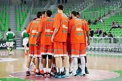 Team Banvit B.K. during basketball match between KK Union Olimpija Ljubljana and Banvit B.K. (TUR) in 4th Round of EuroCup LAST 32 2013/14 on January 22, 2014 in Arena Stozice, Ljubljana, Slovenia. Photo by Urban Urbanc / Sportida