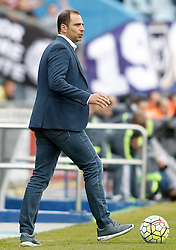 16.04.2016, Estadio Coliseum Alfonso Perez, Getafe, ESP, Primera Division, Getafe CF vs Real Madrid, 33. Runde, im Bild Getafe's coach Juan Eduardo Esnaider // during the Spanish Primera Division 33th round match between Getafe CF and Real Madrid at the Estadio Coliseum Alfonso Perez in Getafe, Spain on 2016/04/16. EXPA Pictures © 2016, PhotoCredit: EXPA/ Alterphotos/ Acero<br /> <br /> *****ATTENTION - OUT of ESP, SUI*****