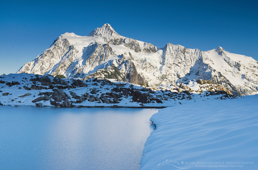 Mount Shuksan 9131 ft / 2783 m seen from Kulshan Rdge, North Cascades Washington