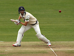 Middlesex's Josh Simpson watches the ball off the bat - Photo mandatory by-line: Robbie Stephenson/JMP - Mobile: 07966 386802 - 03/05/2015 - SPORT - Football - London - Lords  - Middlesex CCC v Durham CCC - County Championship Division One
