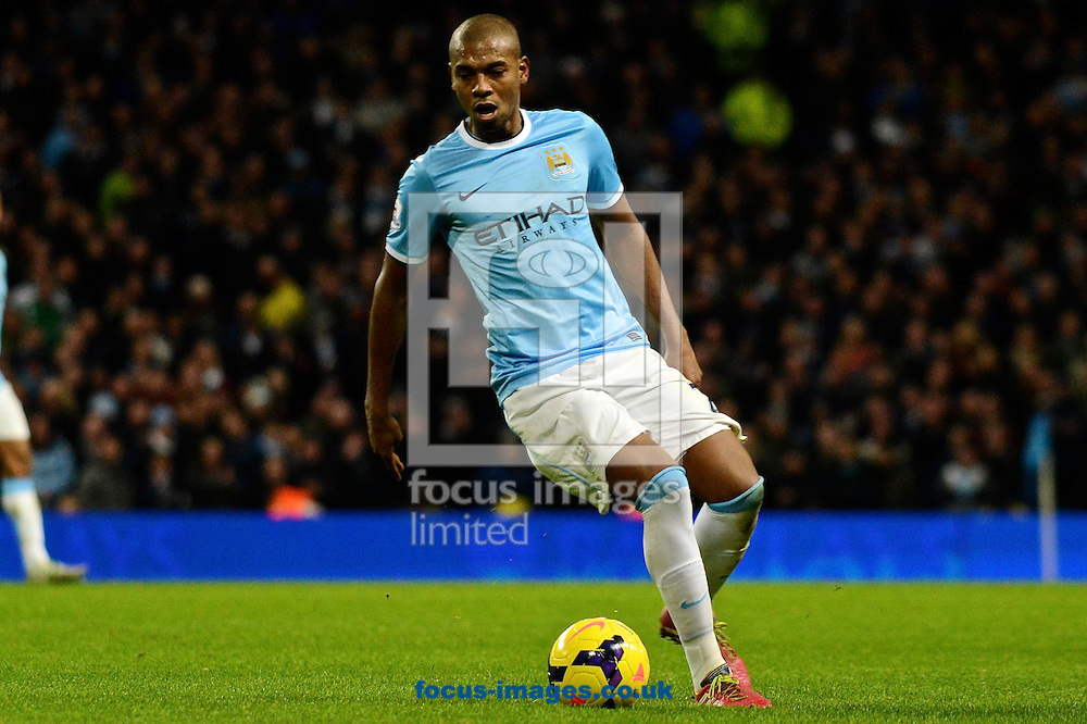 Picture by Ian Wadkins/Focus Images Ltd +44 7877 568959<br /> 26/12/2013<br /> Fernandinho of Manchester City during the Barclays Premier League match at the Etihad Stadium, Manchester.