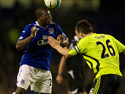 LIVERPOOL, ENGLAND - Thursday, April 17, 2008: Everton's Yakubu Ayegbeni and Chelsea's captain John Terry during the Premiership match at Goodison Park. (Photo by David Rawcliffe/Propaganda)