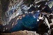 Grjótagjá geothermal pool in Mývatn, north Iceland