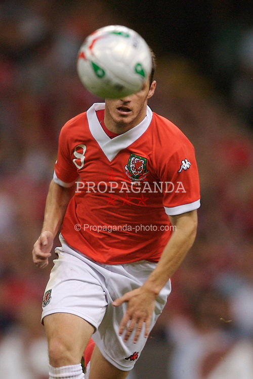 Cardiff, Wales - Saturday, September 8, 2007: Wales' Jason Koumas in action against Germany during the Euro 2008 Qualifying Group D match at the Millennium Stadium. (Photo by David Rawcliffe/Propaganda)