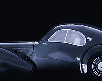 The Bugatti Type 57 was a Bugatti car. The car was built from 1934 to 1940 and had a 3.3-litre eight-in-line engine with two camshafts that was derived from the engine of the Bugatti 49. The car was designed by Jean Bugatti, the son of Ettore Bugatti.<br /> <br /> There were two versions of the type 57: the 57 and the 57S, with lowered chassis. There was also a version with compressor, called 57C (or 57SC). There were several coachwork available: among others the Ventoux, the Stelvio, the Atalante and the Atlantic (of which only a few were built in 1936). The design of the Atlantic was inspired by the experimental Aérolithe (1935). In 1937 and 1939 a Bugatti 57 won the Le Mans 24-hour race, both years with Jean-Pierre Wimille behind the wheel.