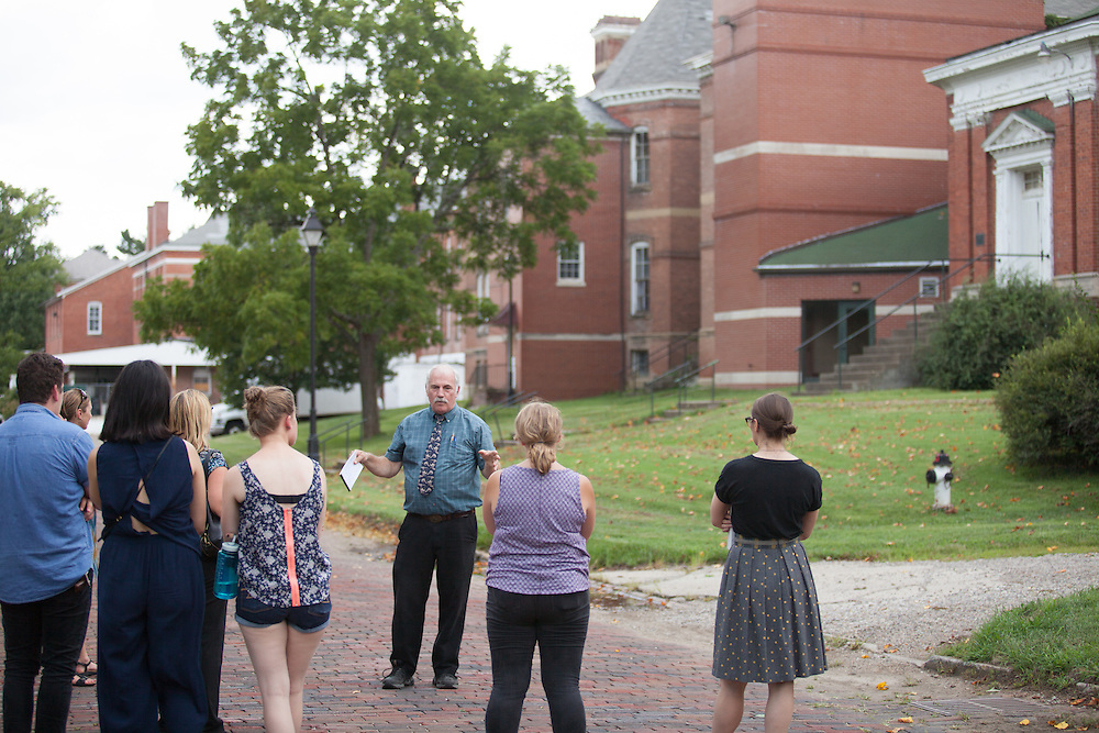 New faculty members and students tour The Ridges with Tom O'Grady, executive director of the Southeast Ohio History Center on Tuesday, August 16, 2016. © Ohio Univeristy / Photo by Kaitlin Owens