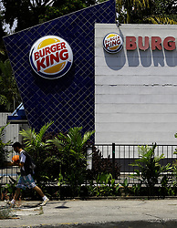 March 23, 2019 - Valencia, Carabobo, Venezuela - March 23, 2019. The Burguer king of the bilivar aveneu of the Valencia, city in the Carabobo state, is one of the many restaurants of the well-known fast food chain that decided to close its doors due to the economic crisis that exists in Venezuela. Photo: Juan Carlos Hernandez. (Credit Image: © Juan Carlos Hernandez/ZUMA Wire)