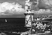 Sentry box overlooking the sea
