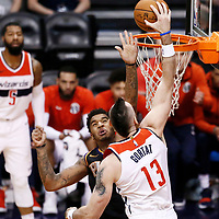 07 December 2017: Washington Wizards center Marcin Gortat (13) goes for the dunk over Phoenix Suns forward Marquese Chriss (0) during the Washington Wizards 109-99 victory over the Phoenix Suns, at the Talking Stick Resort Arena, Phoenix, Arizona, USA.