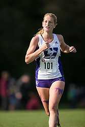 Mariel Fluttert of the Western Mustangs  competes in the women's 5k  at the 2015 Western International Cross country meet in London Ontario, Saturday,  September 26, 2015.<br /> Mundo Sport Images/ Geoff Robins