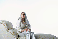Senior Woman on Chaise Lounge