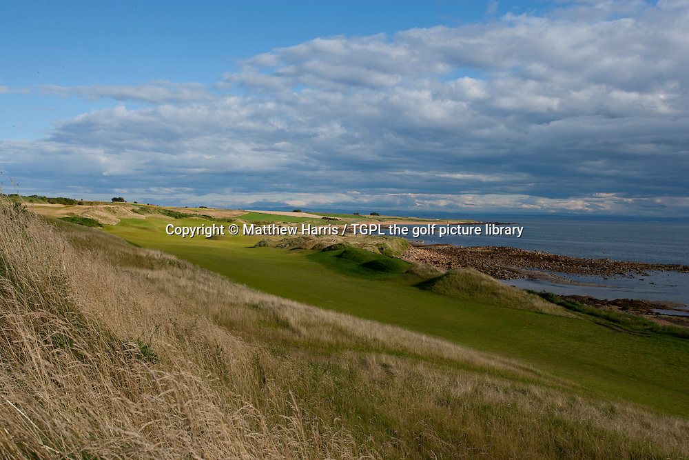 3rd par 5 at Kingsbarns Golf Links during summer ,Kingsbarns,Fife,Scotland.