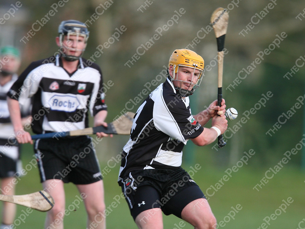 Derek Quinn in action for Clarecastle during the Clarecastle V Cratloe match at Clarecastle on Friday evening.<br /> <br /> Photograph by Eamon Ward